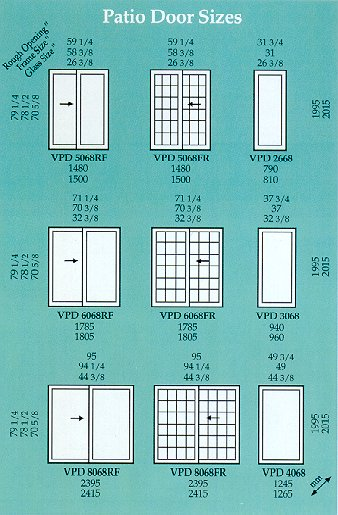vpatiosizesjpg - Patio Door Sizes